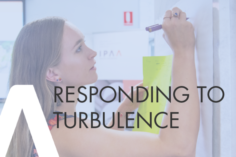 Learn how to respond to organisational change and turbulence